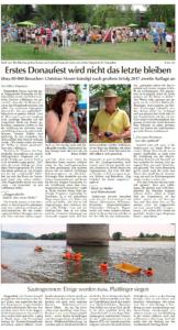 Donau-Anzeiger Abschlussbericht vom 20.07.2015, Seite 1
